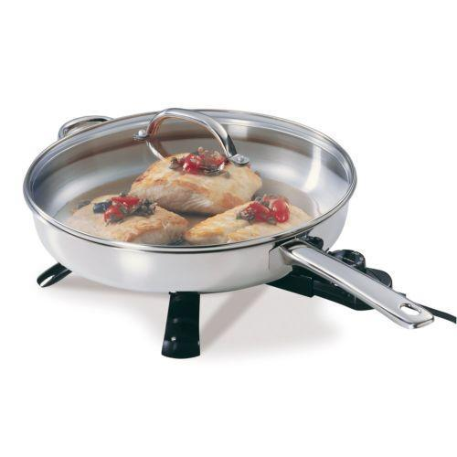 Stainless Steel Electric Skillet Ebay
