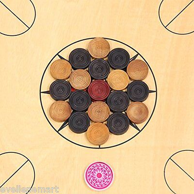 Set of 24 Coins Carrom Coins + 1 Striker :: Carrom Coins :: Indoor Game