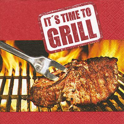 Servietten - Zeit zum Grillen - Its time to grill Geburtstag 20 Stück