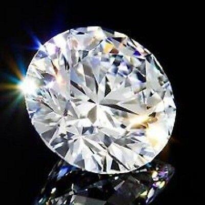 Round 7 mm 1.8 ct Fancy Diamond Cut VVS D White Sapphire Brilliant Solitaire