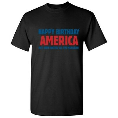 Happy Birthday 4th of July Rude Cool Humor Graphic Gift  Funny Novelty T-Shirts