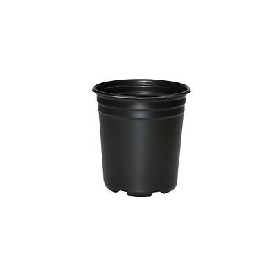 1 / 2 / 3 / 5 / 7 / 10 Gallon Black Plastic Plant Flower Pot Nursery Containers