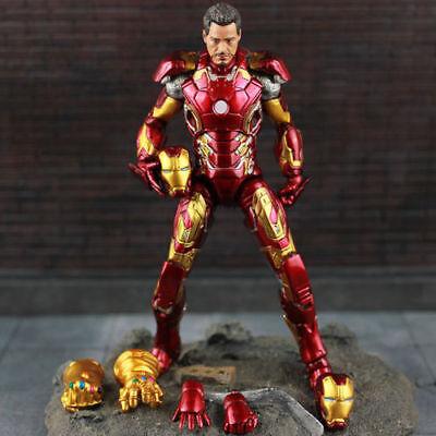 US! Marvel Avengers Infinity War Iron Man MK 43 Tony Stark Figure Action Toy Hot