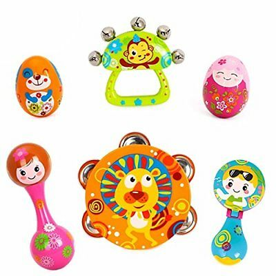 Early Education 0-1 years Olds Baby Musical Instruments Toy Set 6 pcs - Year Olds