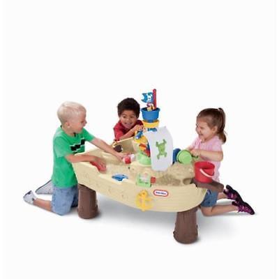 Little Tikes - Spieltisch Piratenschiff - Wasserspielzeugplatz Sandkasten Boot