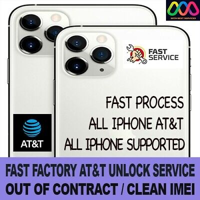 FAST FACTORY UNLOCK SERVICE FOR AT&T iPhone 12 Pro Max 12 11 Xs Max Xr X 8 7 6 5