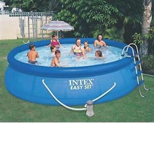 Intex 15ft X 42in Easy Set Pool With Filter Pump Ladder Ground Cloth Amp