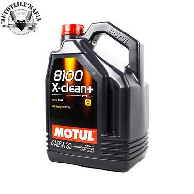 5Liter Motul 8100 X-clean+ SAE 5W30 VW Motoröl Motorenöl Öl Diesel Benzin