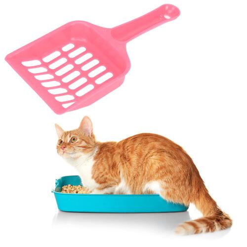 Cat Dog Plastic Litter Tray Scoop Spoon Random Color Waste Poop Shovel Cleaner ,