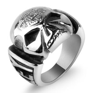 Harley Davidsun Titanium stainless steel skull ring 100% NEW