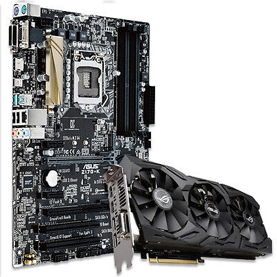 Asus Z170-K Desktop Motherboard + ROG GTX 1060 6GB STRIX OC Edition Graphic Card