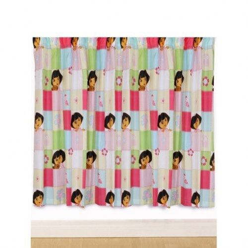 Dora the Explorer 'Buttons' 66 X 72 Inch Drop Curtain Pair Matching New Gift