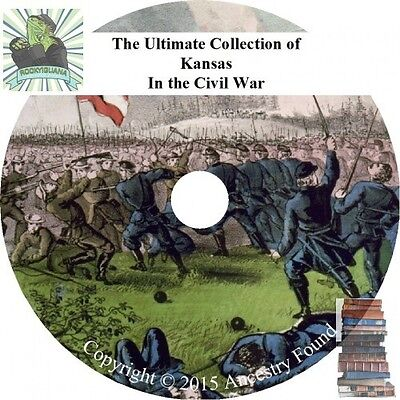Kansas Civil War Books - History & Genealogy - 18 Books on DVD