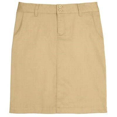 Lee Uniforms 13 Khaki Stretch Classic Skirt Knee Juniors School Uniform New