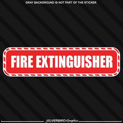 Fire Extinguisher Sticker Warning Decal Emergency Work Business Safety 8 X 2