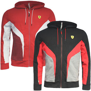Puma Sf Scuderia Ferrari Hooded Mens Sweat Full Zip Cotton