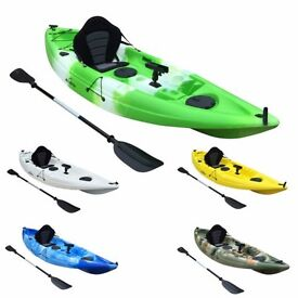 Bluefin Single Kayak Ideal for the Beach, Rivers, Lakes and Fishing