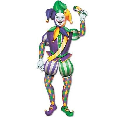 Jointed 3-Foot Mardi Gras Jester Mardi Gras Decorations Mardi Gras Wall Decor](Mardi Gras Decoration)
