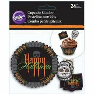 Wilton Cupcake Combo Pack Day of the Dead Halloween Deadly Soiree 24 Ct - Wilton Halloween Cupcake Combo Pack