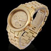 Womens Wrist Watch Quartz Gold