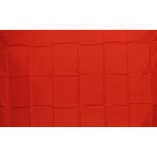 Solid Red Flag Banner Sign 3' x 5' Foot Polyester Grommets