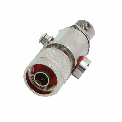 Helium compatible N-Male N-Female lightning arrestor for outdoor antenna 0-6 GHz
