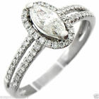 F Marquise Diamond Engagement Rings
