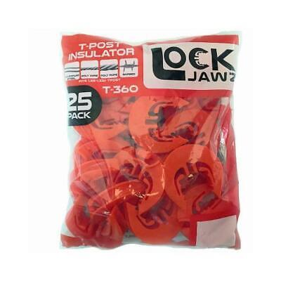 Dare Lock Jawz Electric Fence T-post Insulator Orange 6 Positions