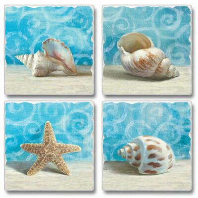 Absorbent Stone Coasters-Set of 4-Gifts from the Sea #1086 Home Decor Accessorie