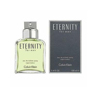 Eternity by Calvin Klein 3.4 oz EDT Cologne for Men New In Box