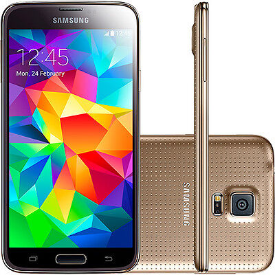 "Samsung Galaxy S5 G900F 5.1"" Unlocked Smartphone 16GB 16MP Copper Gold 4G LTE"