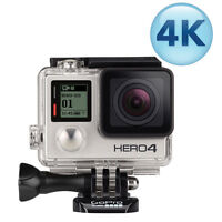 GoPro HERO4 Waterproof HD Sports & Helmet Camera - Silver Editio