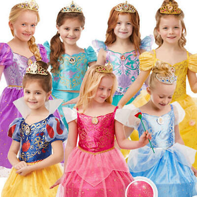 Disney Princess Costumes For Kids (Glitter and Sparkle Disney Princess Girls Fancy Dress Fairy Tale Kids Costumes)