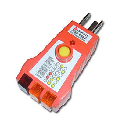 Triplett Plug-bug 2 9610 Gfci Receptacle Tester For 110-125 Vac Receptacles