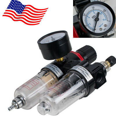 14 Air Compressor Filter Oil Water Separator Trap Tools Air Pressure 40m Usa