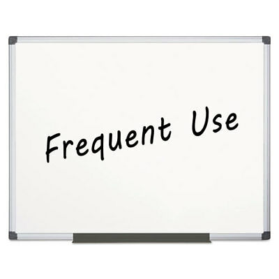 Value Lacquered Steel Magnetic Dry Erase Board 48 X 72 White Aluminum Frame