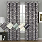 Floral Window Treatment Sets with Grommet Curtains