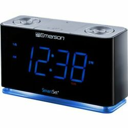 SmartSet Alarm Clock Radio w/Bluetooth Speaker, USB Charger for iPhone & Android