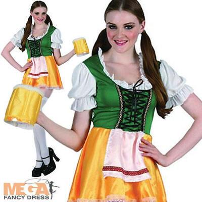 Bavarian German Beer Girl Lady Bar Maid Fancy Dress Costume Ladies Outfit 10-14 - German Girl Outfits