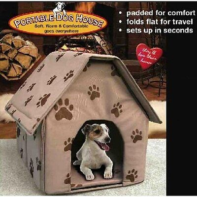 Portable Pet Dog House Bed Collapsible Warm &Soft Indoor Cats Pet House Bed