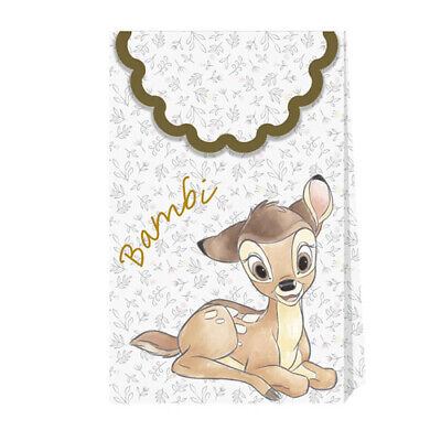 BAMBI PAPER FAVOR BAGS (6) ~ Birthday Party Supplies Treat Baby Shower covid 19 (Baby Shower Treat Bags coronavirus)