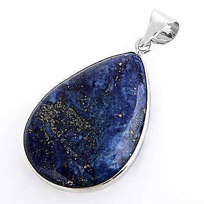 "Lapis Lazuli Gemstone Gem Necklace Pendant 1.42x1.02"" HOT LW"