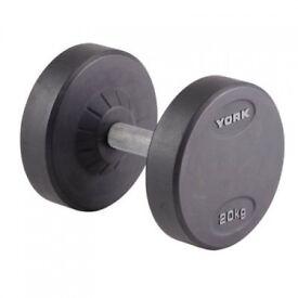 York - Pro Style Dumbbell - 20kg - (Refurb 3 Month RTB Warranty) 26707