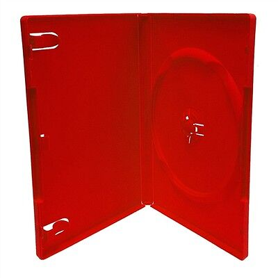 New Lot Of 5 Red Dvd Disc Replacement Cases Standard 14mm Case Free Sh