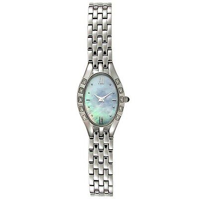 Mother Of Pearl Silver Wrist Watch - Pulsar by Seiko Diamonds Mother of Pearl Silver Tone Women's Watch PEG669
