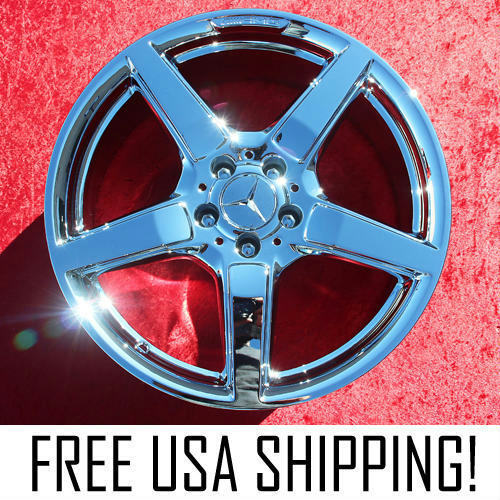 "Set Of 4 Chrome 19"" Mercedes Benz Cls550 Amg Cls400 Sl550 Oem Wheels Rims 85255"