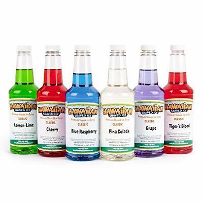 Hawaiian Shaved Ice Syrup 16 Fl Oz 6 Pack