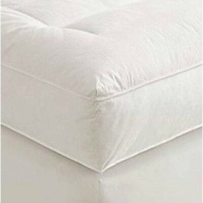 "5"" Twin XL Goose Down Mattress Topper Featherbed / Feather Bed Baffled"