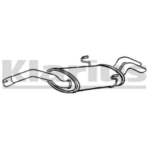 1x KLARIUS Replacement Rear / End Silencer Exhaust For CITROËN, FIAT, PEUGEOT