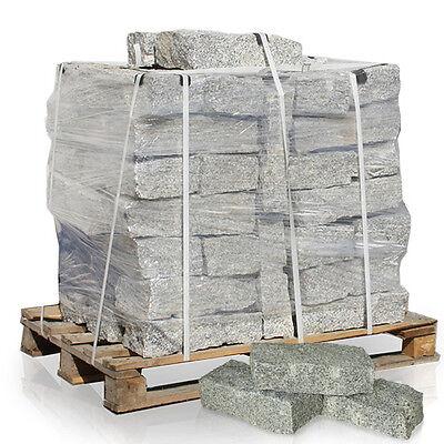 Granit Randsteine Bord Kante Palisade Mauer Stein 40 x 20 x 10cm 1000kg Palette
